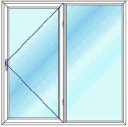 قیمت پنجره دوجداره دو لنگه یک لنگه باز شوی تک