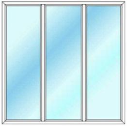قیمت پنجره دوجداره سه لنگه ثابت بدون باز شو