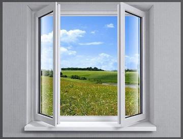پنجره upvc دو لنگه بازشوی فرانسوی